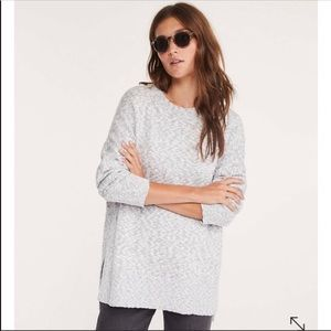 [Lou & Grey] Gray Marlknit Tunic Sweater